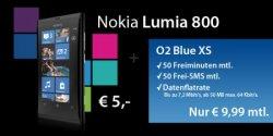 Nokia Lumia 800 mit o2 Blue XS Tarif für nur 244,76 Euro Gesamtkosten