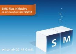 @o2online.de: O2 Blue S und M mit zusätzlicher SMS-Flatrate (nur bis