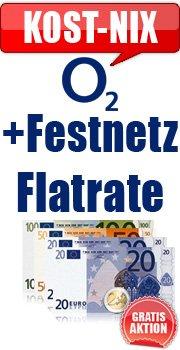 o2 Flatrate + Festnetz-Flatrate 2 Jahre für 0€