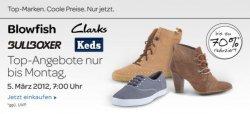 Schuhe von Blowfish, Clarks, Bullboxer und Keds bis zu 70% reduziert (ebay)
