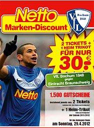 [LOKAL] VfL Bochum 2x Sitzplatz-Karten und aktuelles Heimtrikot bei Netto für 30€