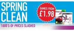 Viele Konsolen Games super günstig dank  Spring Clean Sale: Games ab £1.98