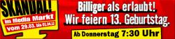 [Lokal] Vom 29.03 7:30Uhr bis zum 01.04. Feiert Media Markt in Flensburg Geburtstag mit Knüller Angeboten!