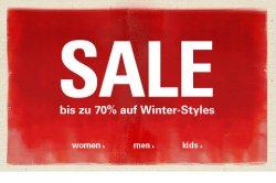 Winter-Sale bei Esprit 70% Rabatt in allen Bereichen + 10% für Newsletteranmeldung