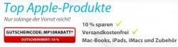 10% auf ausgewählte Apple Produkte bei MeinPaket