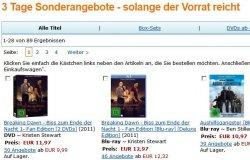 3 Tage Sonderangebote für DVD & Blu-ray ab 4,97€ bei Amazon.de