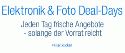 Elektronik & Foto Deal-Days – vom 30.04. – 06.05. jeden Tag neue Blitzangebote