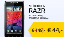 HOT: Motorola RAZR mit Base Internetflat (500MB) für einmalig 44€ + 11€/Monat!