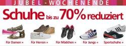 Jubel-Wochenende bei Neckermann.de – alle Schuhe bis zu 70% reduziert