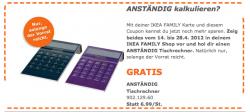 [LOKAL] Kostenloser Taschenrechner bei IKEA für family Mitglieder