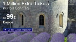 Lufthansa – ab Freitag 1 Million Extra-Plätze Flüge nach Europa ab 99 € Hin- und zurück