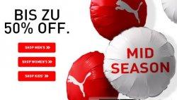 Mid Season Sale mit bis zu 50% Rabatt auf viele Artikel im Puma Onlineshop
