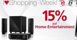 Nur am Freitag – 15 % Rabatt auf Home-Entertainment! bei Neckermann.de