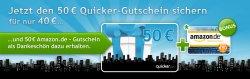 Quicker: 50 € Amazon-Gutschein ab 35 € AB MONTAG