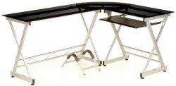 eBay WOW-Angebot HJH Eck-Schreibtisch mit Schwarzglas für € 109,90 inkl. Versand
