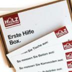 Aufmaßbox kostenlos bestellen: Zollstock, Bleistift und Millimeterpapier