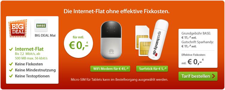 BASE Internet-Flat (500MB) 2 Jahre lang kostenlos + UMTS ...