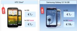 """Das neue Galaxy S3 ab einmalig 19€ + 24,95€/Monat für junge Leute + Studenten bzw. 29,95 für """"alte"""" Leute alternativ z.B. HTC One X für 1 Euro"""