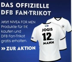 dfb fan trikot kostenlos beim kauf von nivea for men produkten liveshopping aktuell. Black Bedroom Furniture Sets. Home Design Ideas