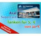 Schnell: Für die Hälfte tanken bei Aral 5 statt 10 Euro bei DailyDeal