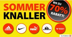 Sommer Knaller & Lagerräumung @Plutosport! 1199 Artikel z.B. Sportbekleidung /Schuhe bis 70% reduziert