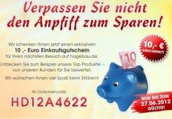 10 € gutschein für Hagebau