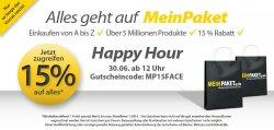 2. Runde: 15% Rabattgutschein bei MeinPaket (über 5 Millionen Produkte!)