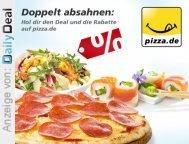 20 EUR pizza.de Gutschein für nur 9 EUR, auch für Bestandskunden bei DailyDeal