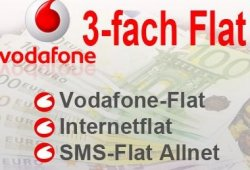 3 Fach Flat für nur 4,99€ im Monat [im Vodafone Netz] @Eteleon