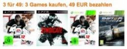 3 Games für 49 Euro – Knalleraktion bei Amazon