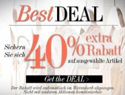 Achtung: 40% +15€ Gutschein möglich auf Topmarken @Dress for Less