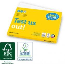Druckerpapier gratis: 100 Blatt Testpackung Data Copy – unverbindlich und kostenlos
