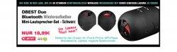 Ein Paar Bluetooth Akku Duo Mini Lautsprecher für 23,27€ incl Versand