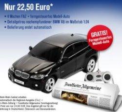 [FAZ] Kostenloser, ferngesteuerter BMW X6 bei selbstkündigem Probeabo!