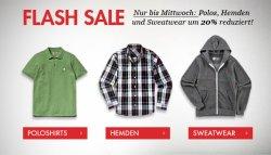 Flash-Sale bei frontlineshop. 20% auf Polos Hemden und Sweater, nur bis Mittwoch
