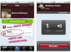 KOSTENFREI: Telefonieren + SMS(Messenger) kostenfrei durch yuilop-app!