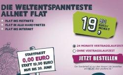 Kostenlos 1 Monat in alle Netze telefonieren und surfen mit der ALLNet Flat von yourfone.de