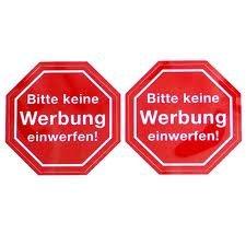 """KOSTENLOS: """"Bitte keine Werbung..""""-Sticker"""