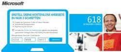 Kostenlose .de Domain und Webspace für ein Jahr von Microsoft
