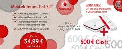 Mobile Internetflat 7,2Mbit von Vodafone mit 600€ Auszahlung + LTE USB Stick  @Handyblatt.de