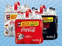 Nur am 09.06. bei Lidl (bundesweit): 3x 6er Pack Coca Cola 1,25l nur 9,00 EUR statt 17,82 EUR! Pro 6er Pack 3 EUR!