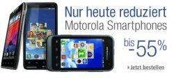 NUR HEUTE: 55% auf Motorola Smartphones & Tabs bei Amazon.de