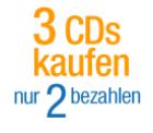 Preissturz: 3 CDs kaufen, nur 2 bezahlen bei Amazon!!!