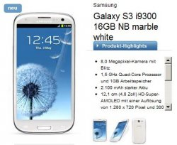 Samsung Galaxy S3 + Apple iPad 3 16GB WiFi Knallerangebot bei logitel.de