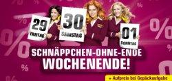 Schnäppchen-Ohne-Ende Wochenende: viele reduzierte Aktionstickets ab 29,99 € bei germanwings