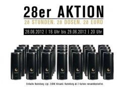 Schwarze Dose: 28 Dosen • 28 Euro • 28 Stunden