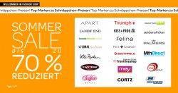 Summer Sale bis zu 70% @eBay Fashion Shop