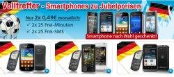 Volltreffer-Smartphones zu Jubelpreisen – Handy + Smartphone nach Wahl für nur 2x 0,49€ monatlich bei eteleon.de