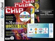 3 Ausgaben Chip mit DVD und Tankgutschein kostenlos mit 5,01€ Gewinn @DailyDeal.de