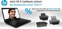 50€ Cashback bei HP!!!! Notebooks für nur 309€ kaufen !!!